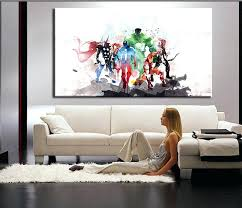 large living room wall art the avengers modern art canvas wall paintings living room canvas art