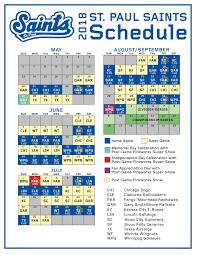 st paul saints professional baseball 2018 schedule
