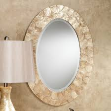 Oval Bathroom Mirrors Brushed Nickel Bathroom Mirrors Brilliant Oval Bathroom Mirrors In Ideas