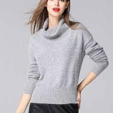 warm womens sweaters womens cowl neck sweater for winter warm rabbit fur knit sweaters