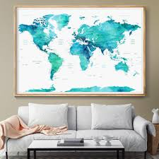 Watercolor Wallpaper For Walls by Personalized Push Pin World Map Poster World Map Watercolor