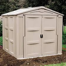 Backyard Storage Ideas by Furniture Pretty Suncast Storage Shed In White With Dark Handle