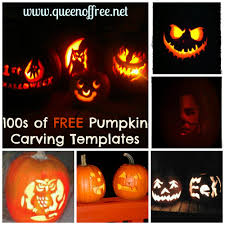 100s of free pumpkin carving patterns queen of free
