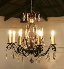 Iron Chandelier With Crystals Wrought Iron Chandeliers With Crystals Wrought Iron And Crystal