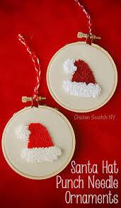santa hat punch needle ornament punch needle santa hat and free