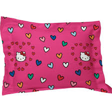 Fuschia Bedding Hello Kitty Pillow Sham Sanrio Free Time Bedding Pillow Cover
