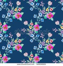botanical wrapping paper watercolor floral botanical seamless pattern stock