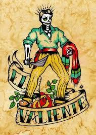 folk art postcards mexican loteria tattoo art set of 8 designs