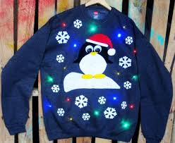 sweaters that light up snowflake light up sweater penguin light up