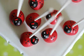 ladybug cake pops sweet cheeks tasty treats hello