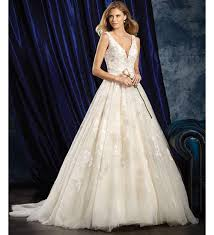 plunging neckline wedding dress wedding dresses with plunging necklines 17 sultry styles