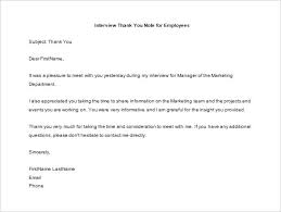 thank you letter to employee 12 free sle exle format