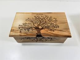 engraved memory box personalized tree of custom memory laser engraved