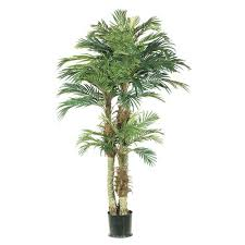 pack of 2 potted artificial silk palm trees 6 walmart