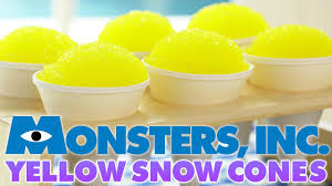 monsters inc yellow snow cones nerdy nummies youtube