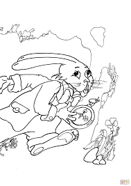 march hare hurries up coloring page free printable coloring pages