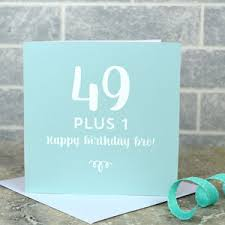 50th birthday cards personalised 50th birthday card by pink and turquoise