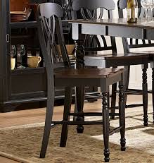 homelegance ohana 7 piece counter height dining room set in black