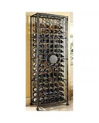wine jail rack shop wrought iron wine jail u0026 cage storage