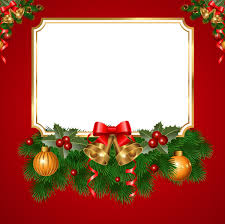 christmas transparent red png frame frames pinterest