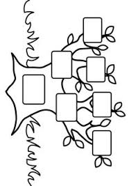 coloring page for kids a simple fun family tree chart