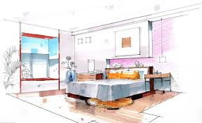 exellent interior design sketches bedroom house free wallpaper