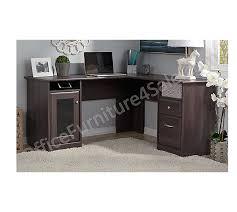L Shaped Desk With Locking Drawers by Bush Furniture Outlet Cabot L Desk 30