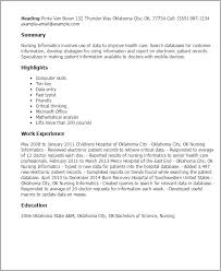 Health Care Resume Sample by Professional Nursing Informatics Templates To Showcase Your Talent