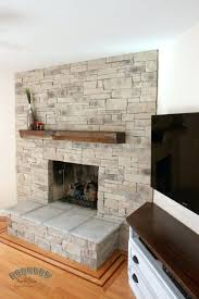 stacked stone veneer fireplace cost dry stack lowes surround