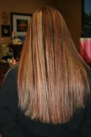natural red hair with highlights and lowlights dark brown lowlights blonde and red highlights long hairstyles how to