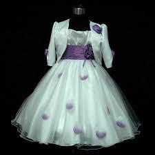 purple white party flower girls dresses cardigan set age size 2