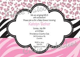cheetah baby shower invitations u2013 gangcraft net