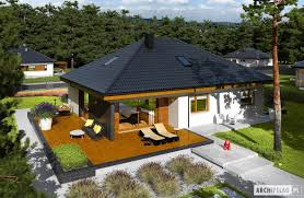 single story bungalow house plan with three bedroom u0026 garage