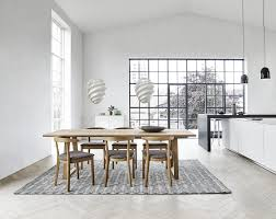 scandinavian design dining table oak solid wood oiled wood