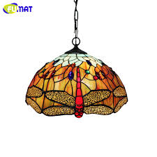 Dragonfly Light Fixture Fumat Dragonfly Pendant Light Vintage Creative Stained Glass