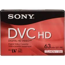 dv cassette sony dvm 63hd hdv cassette 63 minutes dvm63hdr b h photo