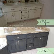 Repaint Bathroom Vanity by Bathroom Oak Vanity Makeover With Latex Paint Chalk Paint