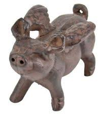 pig animals iron statues lawn ornaments ebay