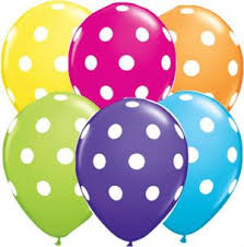 polka dot balloons polka dot balloons qualatex balloon biodegradable