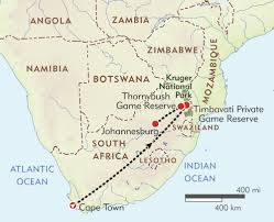 Map South Africa South Africa Private Journey Itinerary U0026 Map Wilderness Travel