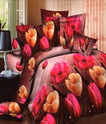 Buy Double Bed Sheets Online India Homefab India Set Of 2 3d Printed Double Bed Sheet Buy Homefab