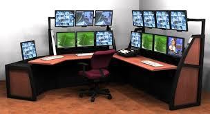 Desk Best Dual Monitor Corner Computer Home Design Ideas Within