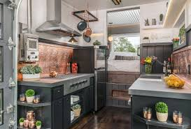 rustic industrial bathroom interior tiny house plans tiny escher tiny house raises the bar for luxury small living curbed