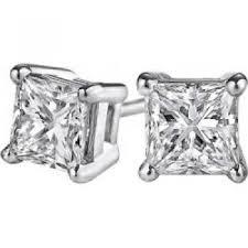 push back earrings jewelry vault uberp007aprw14d push back princess cut diamond