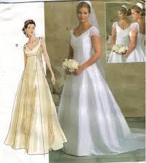 vogue wedding dress patterns vogue pattern 2788 wedding gown bridesmaid empire waist