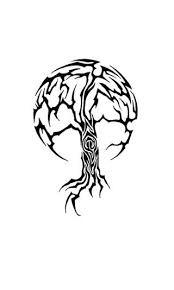 tribal tree on shoulder tribal tree flash