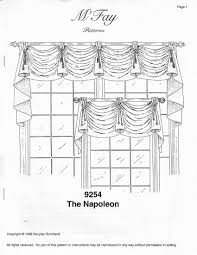 Drapery Patterns Professional M U0027fay Patterns 9254 The Napolean Professional Drapery Workroom