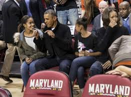Obama First Family by Obama Booed During Basketball Game Ny Daily News