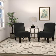 Living Room With Chairs Only Yuri Blue Fabric Accent Chair 2 Pack