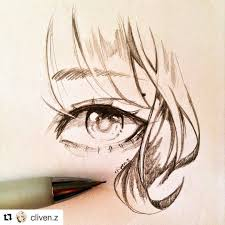 sketch by cliven z a simple eye sparkly eye today was my last